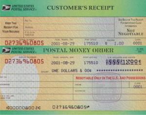 A postal money order